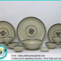 Dinnerware Set Ivory Glazed