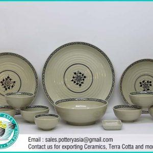 Dinnerware Set Ivory Glazed