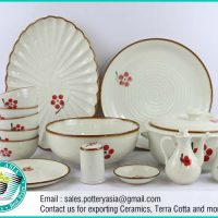 Dinnerware Set Japanese Style Flowers