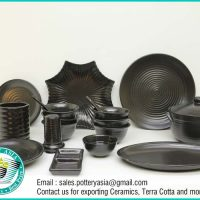 Dinnerware Set Matte Black