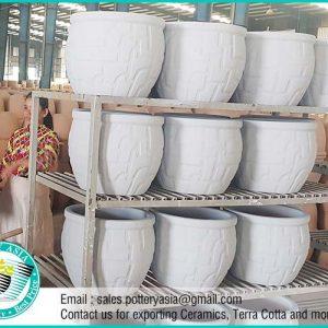 Rustic Large Ceramic Pots Underglazed