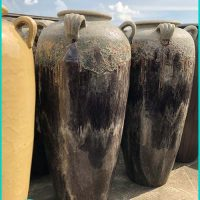 Huge Ceramic Jugs Stone Glazed For Decorative Garden