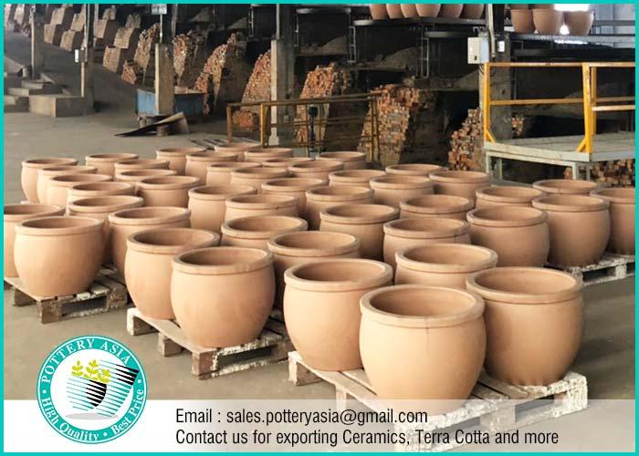 Rustic Ceramic Pots Underglazed