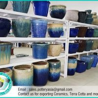 Glazed Ceramic Garden Pots, Pottery Manufacturer