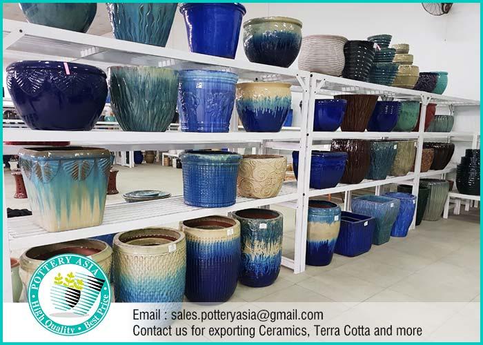 Glazed Ceramic Garden Pots, Pottery Manufacturer