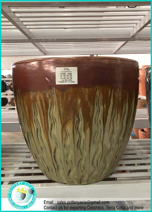 Large Glazed Ceramic Garden Pots