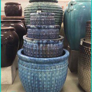 Round Ceramic Pots Planters
