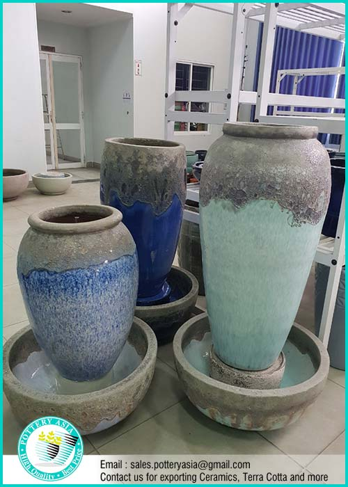 Rustic Ceramic Water Fountain Pots