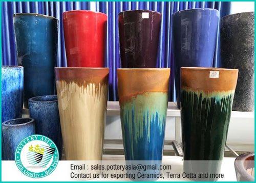 Tall Ceramic Plant Pots