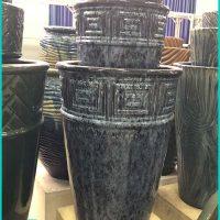Tall Stone Glazed Garden Pots