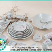 Dinnerware Set Pink Small Flowers