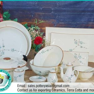 Dinnerware Set Spring Flowers