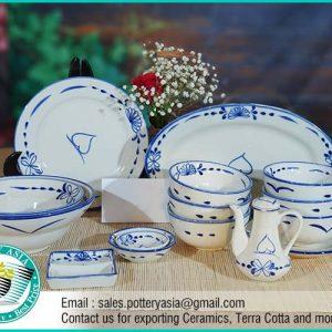 Dinnerware Set Vietnamese Ancient Pattern