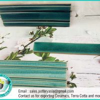 Ceramic Tile Baseboard Green