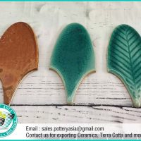 Ceramic Tile Leaf Shape