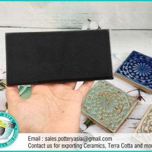 Ceramic Tile Rectangle Black