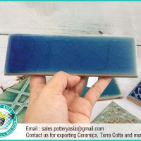 Ceramic Tile Rectangle Blue