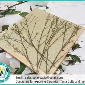 Ceramic Tile Square Branch Pattern