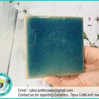 Ceramic Tile Square Green Solid