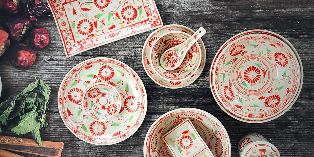 tableware set pottery asia ceramic . Xưởng sản xuất bát đĩa Bát Tràng theo yêu cầu tại tphcm