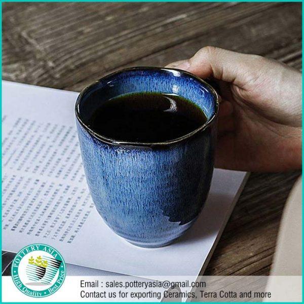 Dinnerset Dark Cobalt Unique Glaze ,Ceramic Mugs – Cups