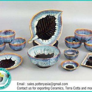 Dinnerware set Unique tri-color Glaze