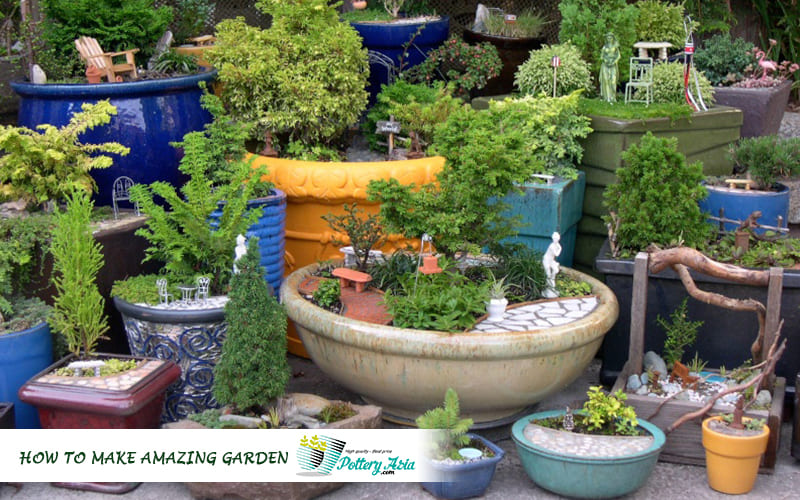 Bring green space into your home with beautiful ceramic pots
