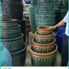 Glazed Ceramic Pots. Nhà phân phối chậu men sứ, chậu cây xuất khẩu tại tphcm