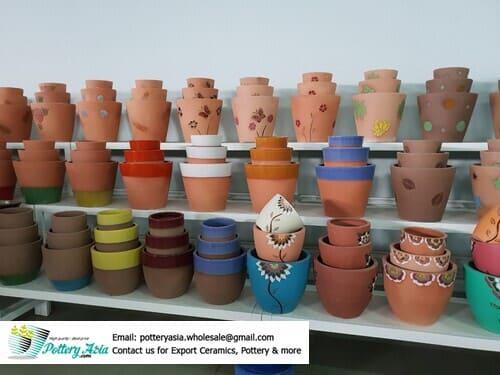 Export beautiful ceramic flower pots, many sizes. Chậu trồng cây gốm sứ, chậu sứ tráng men, chậu tiểu cảnh