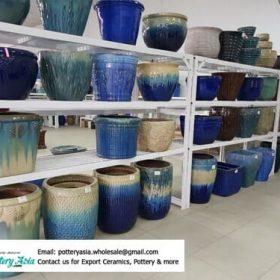Nhà cung cấp chậu men, chậu trồng cây gốm sứ xuất khẩu Việt Nam. Glazed ceramic pots exported to foreign markets
