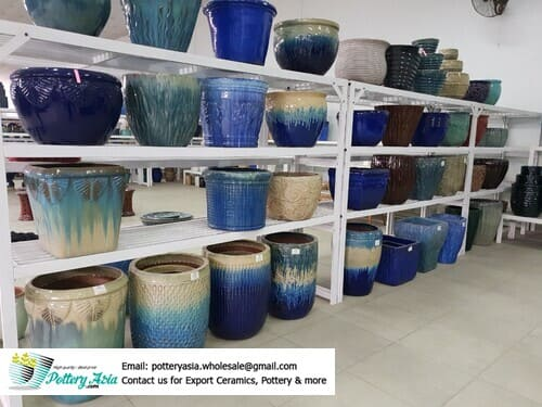 Glazed ceramic pots exported to foreign markets
