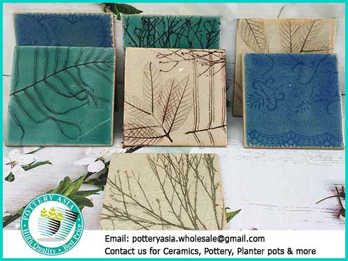 Decorative ceramic tiles with natural and modern patterns