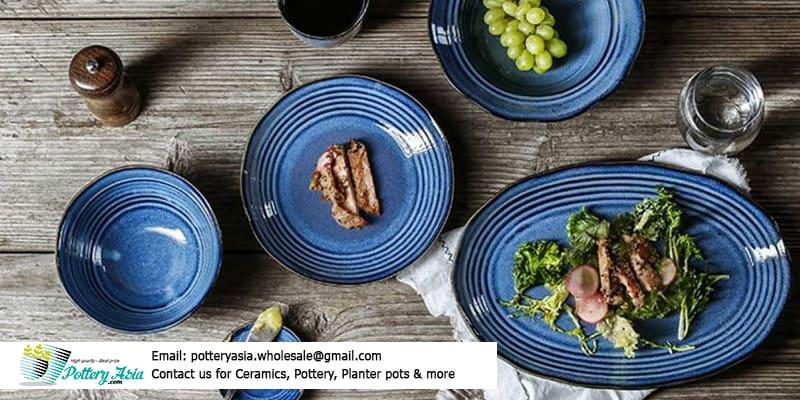 Các bộ bàn ăn gốm sứ, chén dĩa sứ tráng men đẹp cho gia đình, nhà hàng - khách sạn