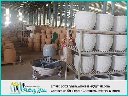 Order ceramic pots and plant saucer sets