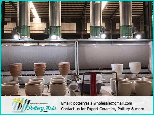 Supplier of decorative ceramic pots, unglazed planter box in bulk