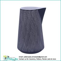 Decorative ceramic jug no handle design