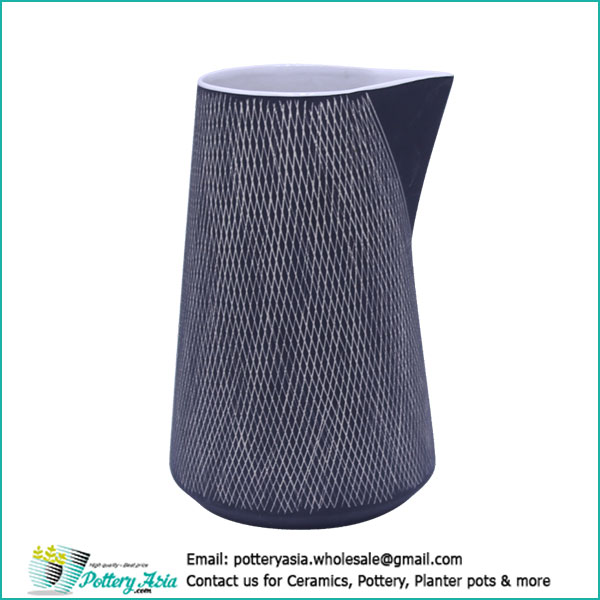 Decorative ceramic jug no handle design